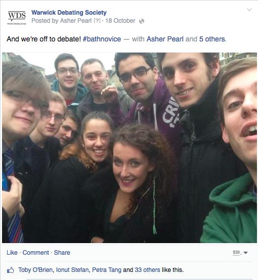 Bath Novices Selfie